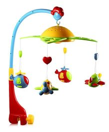 Emob Cot Mobile With Rattles - Multi Color