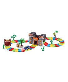 Emob Castle Theme Magical Glow In Dark Track Set With Car Multi Color - 158 pieces