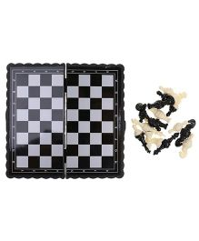 Emob Mini Travel Magnetic Chess Board - Black & White