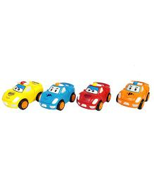 Emob Automatic Transformation Robot Car Wind Up Toy Set of 4 - Multi Color