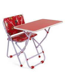 Mothertouch Chair With Attached Table - Red