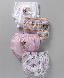 Bodycare Panties Minnie Mouse Print Pack of 4 - Pink White