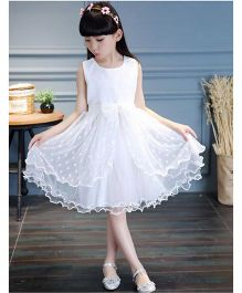 Pre Order - Awabox Pretty Netted Dress - White