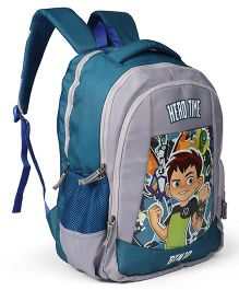 Ben 10 School Bag Grey - 18 inches