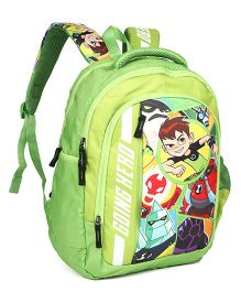 Ben 10 Backpack Green - 18 inches