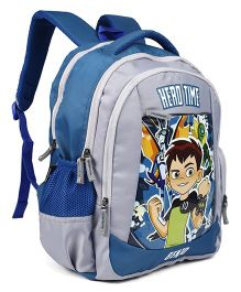 Ben 10 School Bag Grey & Blue - 16 inches