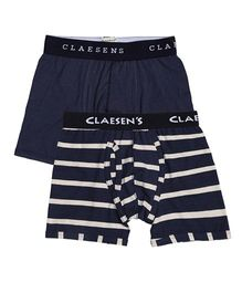 Claesens Holland Boxer Pack Of 2 - Navy Blue