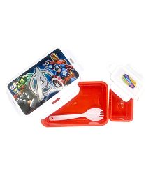 Funcart  Avengers Design Lunch Box - Red And White