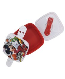 Funcart  Mickey Mouse & Friends Play Hard Lunch Box - Red & White