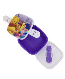 Funcart  Winnie the Pooh Print Lunch Box - Purple & White