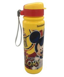 Funcart Mickey Mouse Insulated Sipper Bottle Yellow Red - 350 ml
