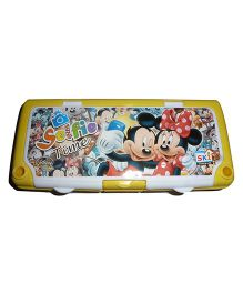 Funcart Mickey & Minnie Mouse Pencil Box - Yellow