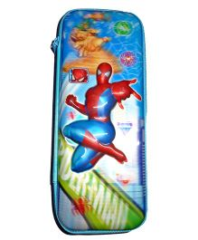 Funcart Spiderman 5D Print High Quality Pencil Pouch - Blue
