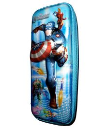 Funcart Avengers 5D High Quality Pencil Pouch - Blue