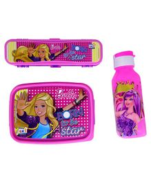 Funcart Barbie Lunch Box Combo Set - Pink