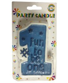 Funcart Fun To Be One Candle - Blue