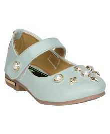 Buckled Up Pearl Bellies - Pastel Green
