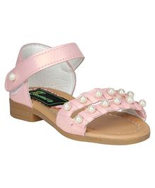 Buckled Up Pearl Sandals - Pink