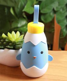 Kidofash Duck Theme Stainless Steel Bottle 270 ML - Blue