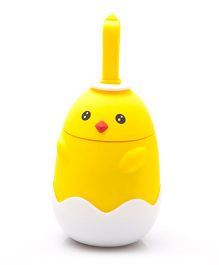 Kidofash Duck 2 Eye Dot Stainless Steel Bottle 220 ML - Yellow