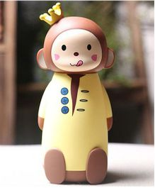Kidofash King Monkey Theme Water Bottle - Yellow