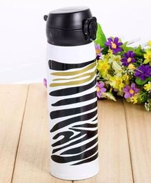 Kidofash Tiger Stripes Print Water Bottle 500 ML - Black