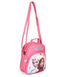 Disney Frozen Character Printed Shoulder Bag Pink - Height 8.6 Inches