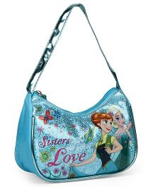 Disney Frozen Sequin Hand Bag Blue - Length 7 inches