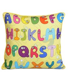 Swayam - Digital Alphabets Print Kids Cushion Cover