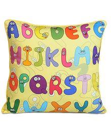 Swayam - Digital Alphabets Print Kids Cushion Cover