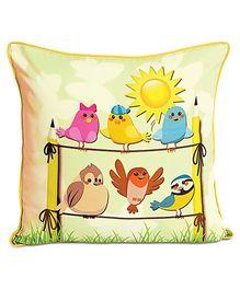 Swayam - Digital Bird Print Kids Cushion Cover