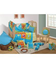 Swayam - 7 Piece Baby Crib Bedding Set Blue