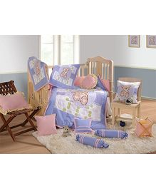 Swayam - 7 Piece Baby Crib Bedding Set Light Purple