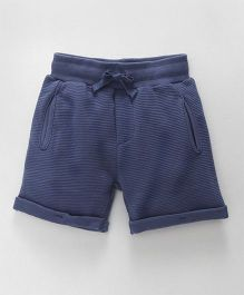 Fox Baby Shorts With Turn Up Hem & Pockets - Blue