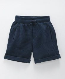 Fox Baby Shorts With Turn Up Hem & Pockets - Dark Navy Blue