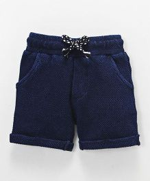 Fox Baby Drawstring Waist Shorts - Dark Blue