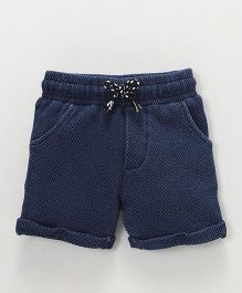 Fox Baby Drawstring Waist Shorts - Blue