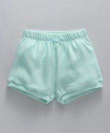 Fox Baby Solid Color Shorts - Mint Green