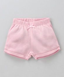 Fox Baby Solid Color Shorts - Pink