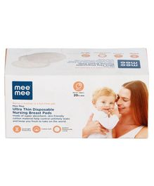 Mee Mee Ultra Thin Disposable Nursing Breast Pads - Pack of 12