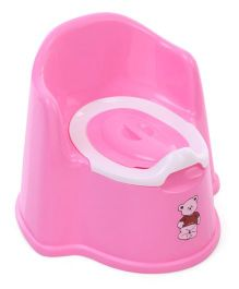 Potty Chair With Lid Bear Print - Pink White