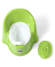 Potty Chair With Lid Bear Print - Green White