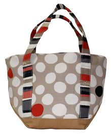 Kadambaby Lunch Bag Polka Dot Print - Beige