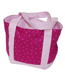 Kadambaby Tote Lunch Bag Heart Print - Pink