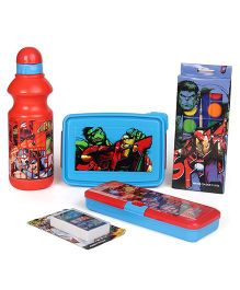 Marvel Avengers School Kit Set Of 5 - Blue Red