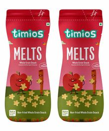 Timios Melts Apple & Cinnamon Whole Grain Snacks - Pack of 2