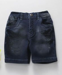 Gini & Jony Denim Distress Shorts - Dark Blue