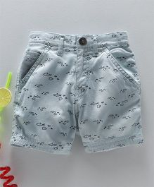 Gini & Jony Shorts Fish Print - Blue