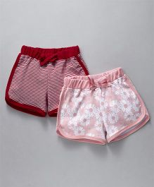 Gini & Jony Shorts Pack of 2 - Red Peach