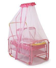 Baby Cradle With Mosquito Net - Pink